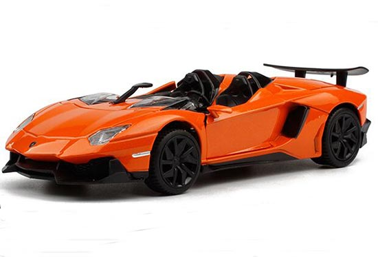 Purple / Yellow / Orange 1:32 Diecast Lamborghini Aventador Toy