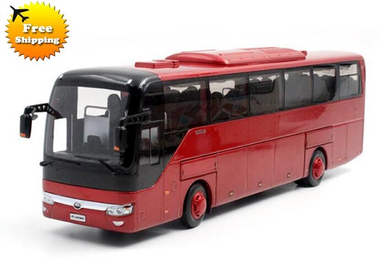 Wine Red 1:43 Scale Die-Cast YuTong ZK6122HD9 Bus Model