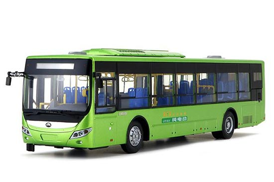 Green 1:43 Scale Die-cast YuTong ZK6125BEVG7 E12 Bus Model