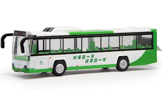 Orange / Blue / Green Pull-Back Function Die-Cast City Bus Toy