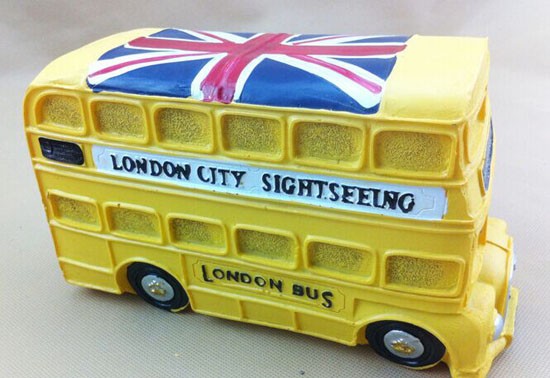 Red / Green / Yellow / Blue Saving Box London Double Decker Bus