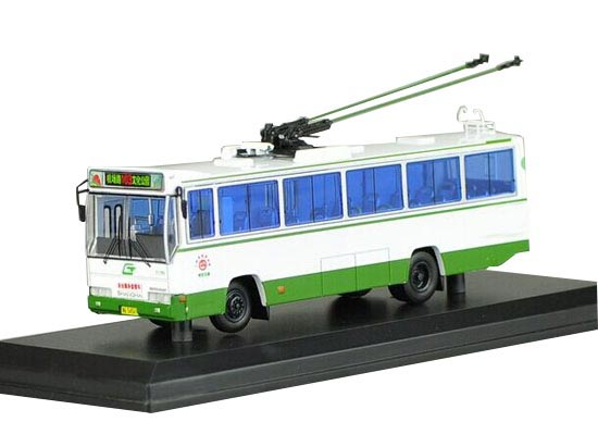 1:76 White SK5105GP NO.103 Die-Cast GuangZhou Trolley Bus Model