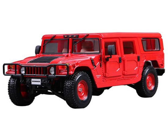 Black / Red 1:18 Scale Maisto Diecast Hummer H1 Model