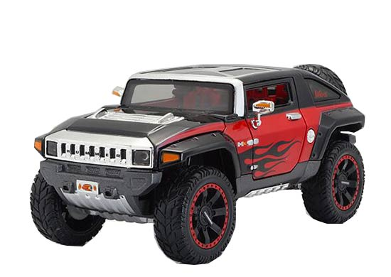 1:24 Scale Black-Red Maisto Diecast Hummer HX Concept Model