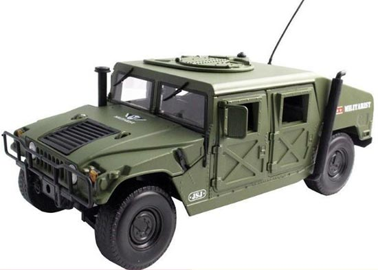 Army Green 1:18 Scale Kids Diecast Military Hummer H1 Model