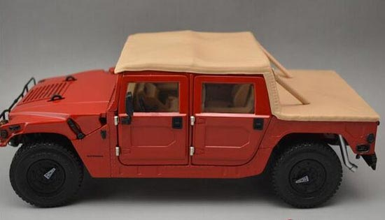 Red 1:18 Scale EXOTO Diecast Hummer H1 Model [NB9T318] : EZBUSTOYS COM