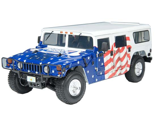 Blue 1:18 Scale EXOTO Die-Cast Hummer H1 Model