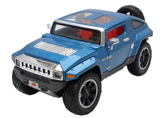 Yellow / Blue 1:24 Scale Maisto Die-Cast Hummer HX Concept Model