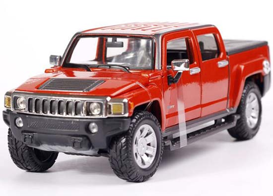 Red / Orange / Black 1:26 Maisto 2009 Diecast Hummer H3T Model