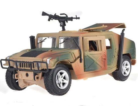 Army Green / Khaki 1:24 Scale Diecast Military Hummer Model