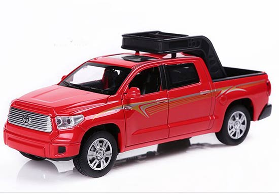 Kids 1:32 Scale Red / Blue / White Die-Cast Toyota Tundra Pickup
