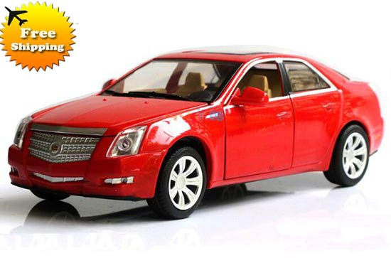 Kids 1:32 White / Black / Red / Silver Diecast Cadillac CTS Toy
