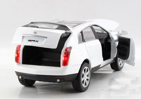 132 scale kids white black red diecast cadillac srx toy