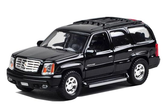 Black 1:36 Scale Kids Welly Die-Cast Cadillac Escalade Toy