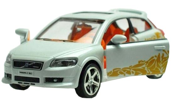 Black / White / Orange / Red 1:32 Kids Die-Cast Volvo C30 Toy