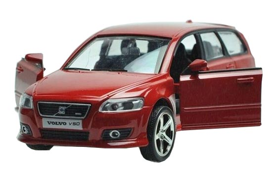 Black / Blue / White / Red 1:32 Kids Die-Cast Volvo V50 Toy