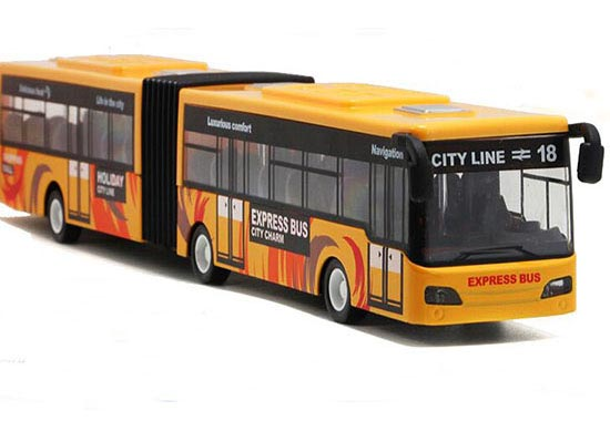 Kids Red / Blue /Yellow Large Scale Die-Cast Articulated Bus Toy