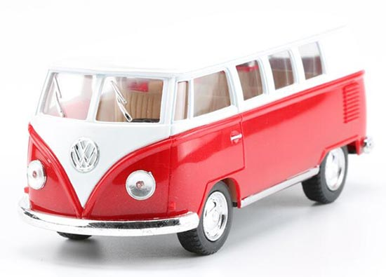 Red / Green / Wine Red / Yellow 1:36 Kids Die-Cast VW Bus Toy