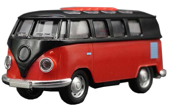 Kids Pink / Orange / Red / Blue 1:32 Scale Die-Cast VW Bus Toy