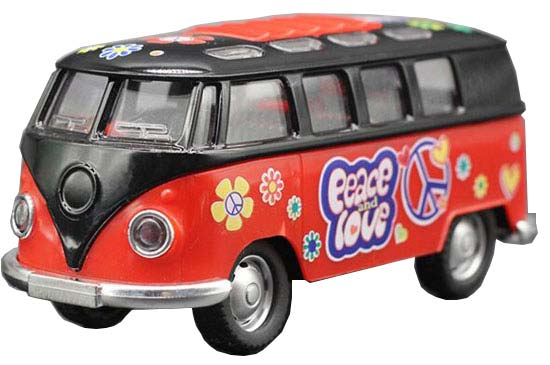 Pink / Orange / Red / Blue Kids 1:32 Die-Cast VW Bus Toy