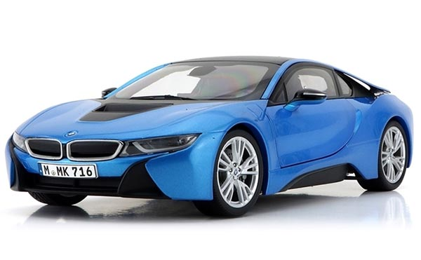Blue / Gray 1:18 Scale PARAGON Diecast BMW I8 Model