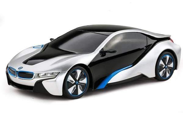 Kids 1:24 Scale White / Silver Full Functions R/C BMW I8 Toy