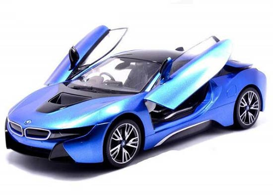 White / Silver Kids 1:14 Scale Full Functions R/C BMW I8 Toy