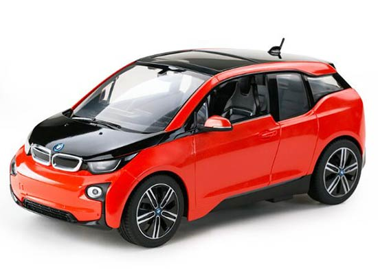 Red / Silver Kids 1:14 Scale Full Functions R/C BMW I3 Toy