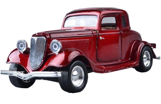 Red 1:24 Scale Motormax Die-Cast 1934 Ford Vintage Car Model