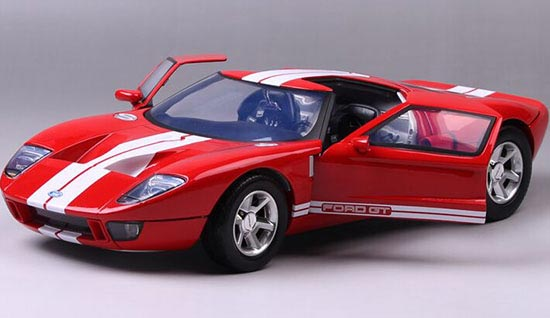 Red White  Scale Motormaxcast Ford Gt Concept Model