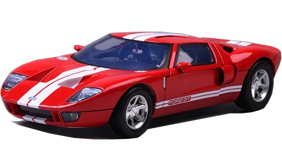 Red-White 1:12 Scale Motormax Diecast Ford GT Concept Model