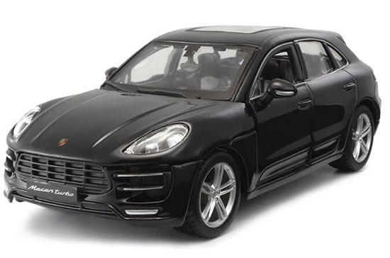 Black / Blue 1:24 Scale Bburago Die-Cast Porsche Macan Model
