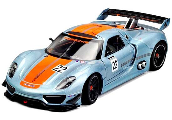 Blue 1:24 Scale Welly Die-Cast Porsche 918 RSR Model