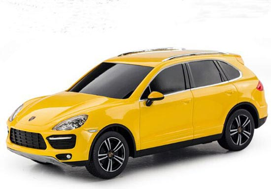 Kids Black / White / Yellow 1:24 R/C Porsche Cayenne Toy
