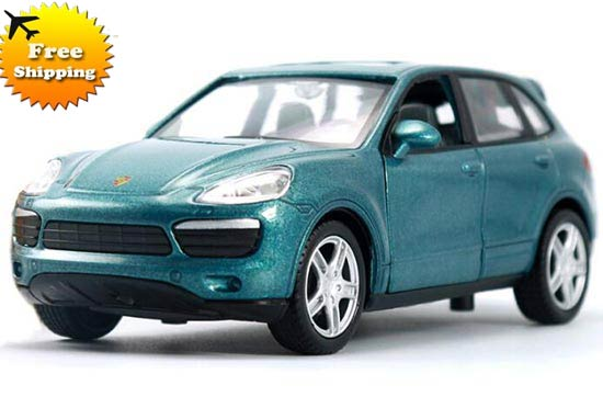 Kids 1:32 Green / Blue / Yellow Die-Cast Porsche Cayenne Toy