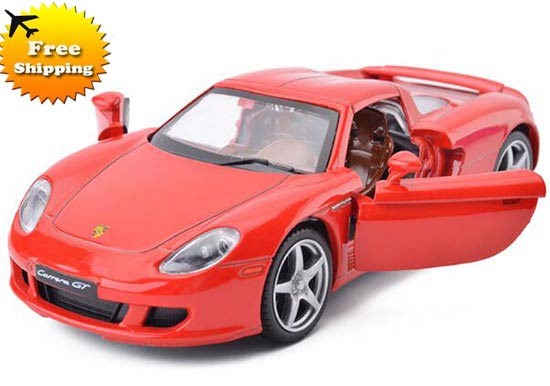 Kids 1:32 Red / White / Yellow Die-Cast Porsche Carrera GT Toy