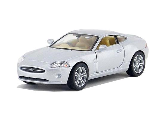 Silver / Gray / Red / Blue 1:38 Diecast Jaguar XK Coupe Toy