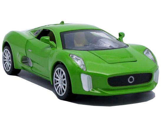 Green / Red / Yellow / Black Kids 1:32 Die-Cast Jaguar C-X75 Toy