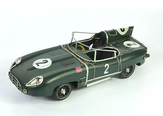 Deep Green Vintage Medium Scale Tinplate 1957 Jaguar XKSS Model