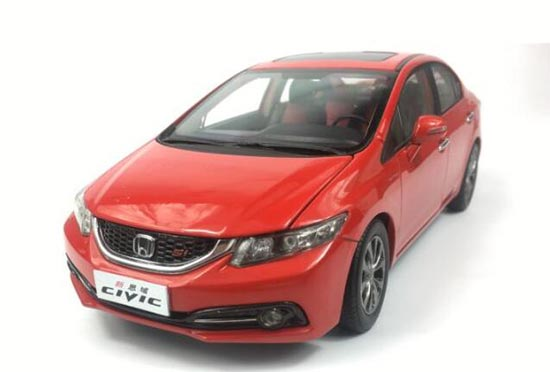 Red 1:18 Scale Diecast 2014 Honda CIVIC Model