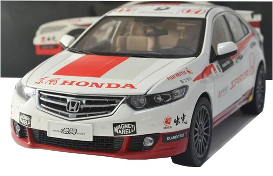 Red-White 1:18 Scale Diecast Honda SPIRIOR CTCC Model