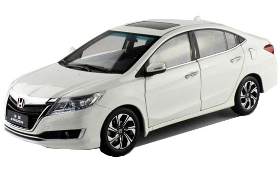 White / Golden 1:18 Scale Diecast 2016 Honda CRIDER Model