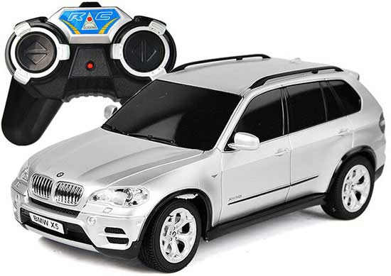 Kids 1:24 Scale Black / Silver Full Functions R/C BMW X5 Toy