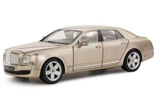 Black / Champagne 1:18 Scale Diecast Bentley Mulsanne Model