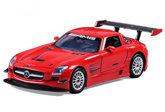 Red 1:24 Scale Diecast Mercedes-Benz SLS AMG GT3 Model