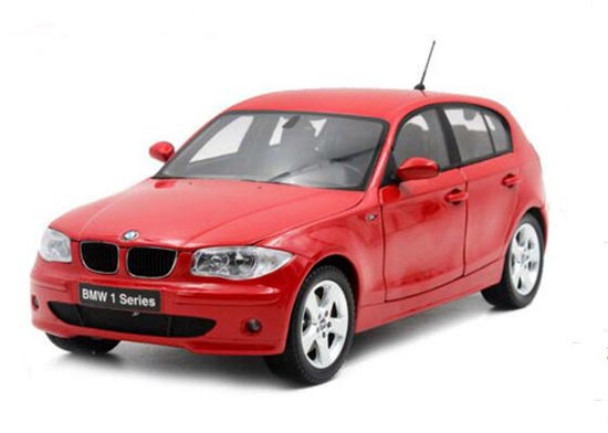 Red / Black Kyosho 1:18 Scale Diecast BMW 120I Model