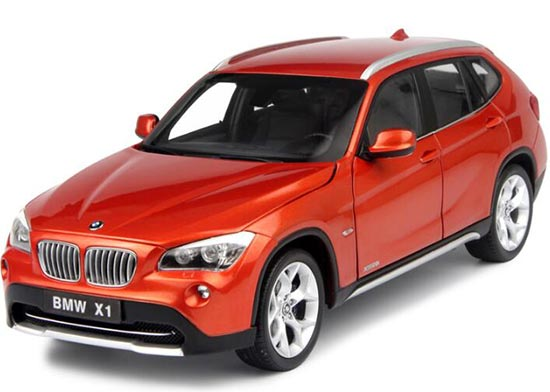 Orange / Black 1:18 Scale Kyosho Diecast BMW X1 Model