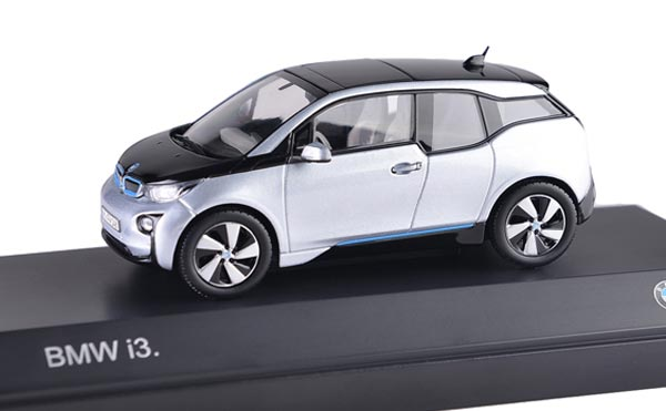 Silver 1:43 Scale Die-Cast BMW I3 Model