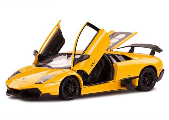 Yellow / Orange 1:24 Scale Die-Cast Lamborghini Murcielago Model
