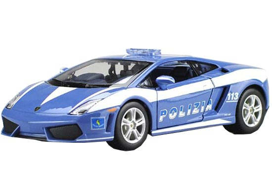 Blue 1:24 Scale Police Diecast Lamborghini Gallardo Model